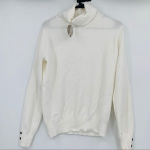 Apricot cream turtle neck sweater long sleeves L